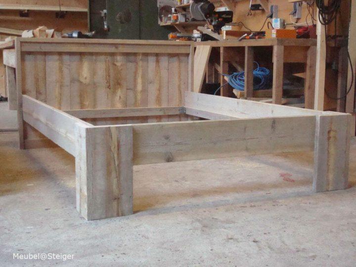 steigerhout blokpoot bed-1